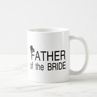 Padre del sombrero de copa de la novia taza clásica