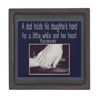 padre e hija cajas de recuerdo de calidad