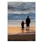 Padre e hija tarjetón