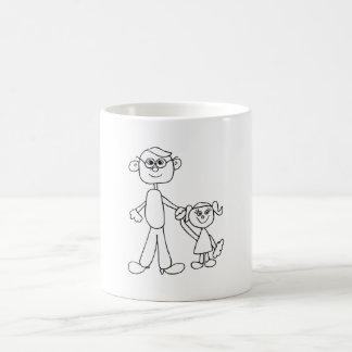Padre e hija taza clásica