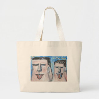 Padre e hijo embarazosos (expresionismo) bolsas
