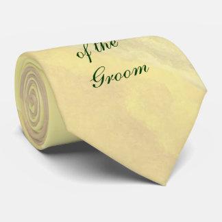 Padre floral amarillo del lazo del novio corbata personalizada