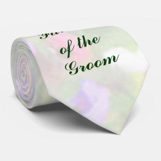 Padre floral de las impresiones del lazo del novio corbatas personalizadas