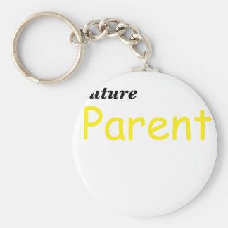 Padre futuro llavero redondo tipo pin