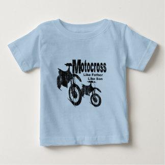 Padre/hijo del motocrós poleras
