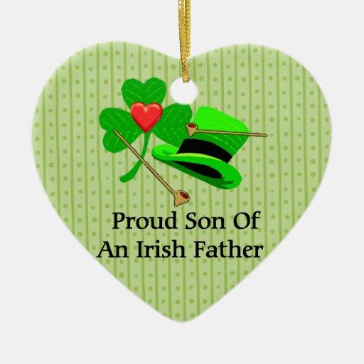 Padre irlandés ornamentos de navidad