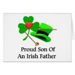 Padre irlandés tarjetas