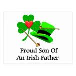 Padre irlandés tarjetas postales