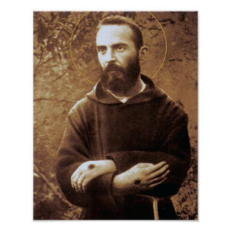 Padre joven Pio Póster