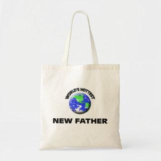 Padre más caliente del mundo el nuevo bolsa lienzo