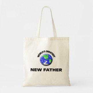 Padre más grande del mundo el nuevo bolsas lienzo