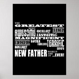 Padre más grande moderno y de la diversión elegant póster