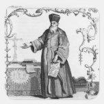 Padre Matteo Ricci Calcomanía Cuadradas