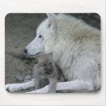 Padre Mousepad del lobo Tapete De Ratones