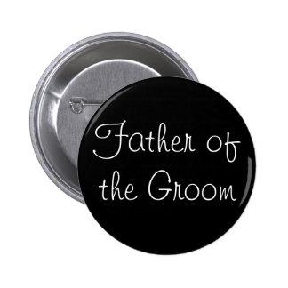 Padre negro del Pin del novio Pin Redondo 5 Cm