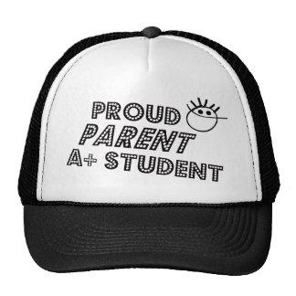 Padre orgulloso A+ Estudiante Gorras