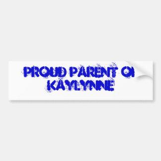Padre orgulloso de Kaylynne Pegatina De Parachoque