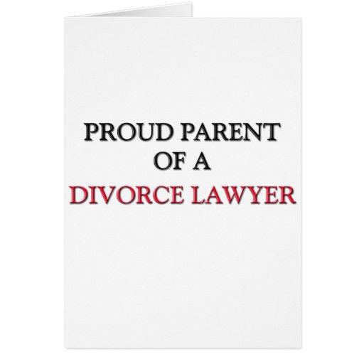 Padre orgulloso de un ABOGADO de DIVORCIO Felicitacion