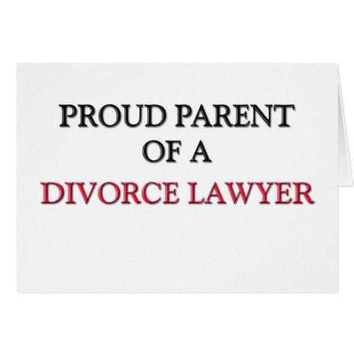 Padre orgulloso de un ABOGADO de DIVORCIO Tarjeton