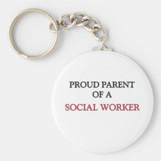 Padre orgulloso de un ASISTENTE SOCIAL Llavero