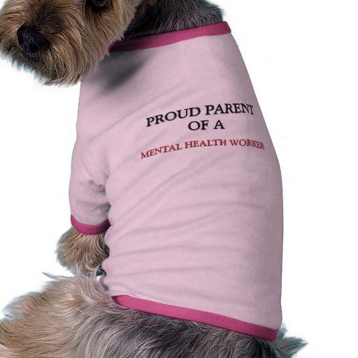 Padre orgulloso de un AYUDANTE de SANIDAD MENTAL Camisetas De Perro