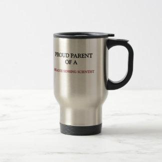 Padre orgulloso de un CIENTÍFICO de la TELEDETECCI Tazas De Café