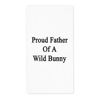 Padre orgulloso de un conejito salvaje etiquetas de envío