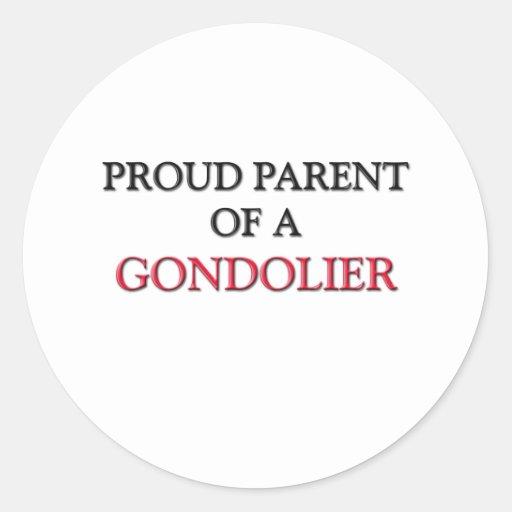 Padre orgulloso de un GONDOLERO Etiquetas Redondas