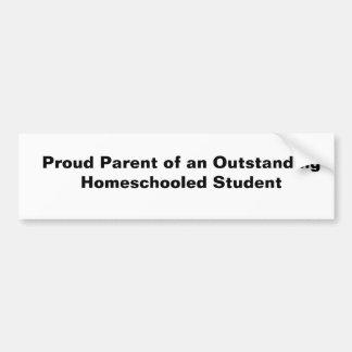 Padre orgulloso de un Homeschooled excepcional Stu Pegatina Para Auto