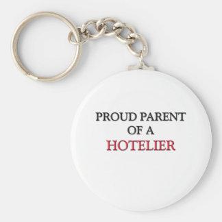 Padre orgulloso de un HOTELERO Llavero Redondo Tipo Pin