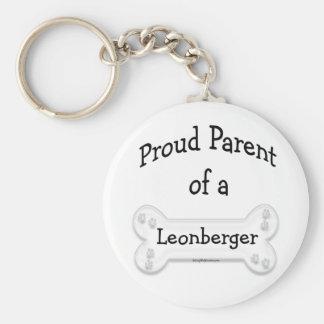 Padre orgulloso de un llavero de Leonberger