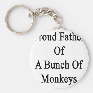 Padre orgulloso de un manojo de monos llavero redondo tipo pin