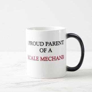 Padre orgulloso de un MECÁNICO de la ESCALA Tazas De Café