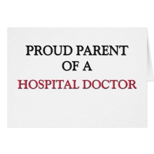 Padre orgulloso de un MÉDICO de HOSPITAL Felicitación