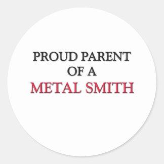 Padre orgulloso de un METAL SMITH Pegatina Redonda