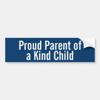 Padre orgulloso de un niño bueno pegatina de parachoque