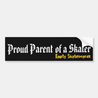 Padre orgulloso de un patinador pegatina de parachoque