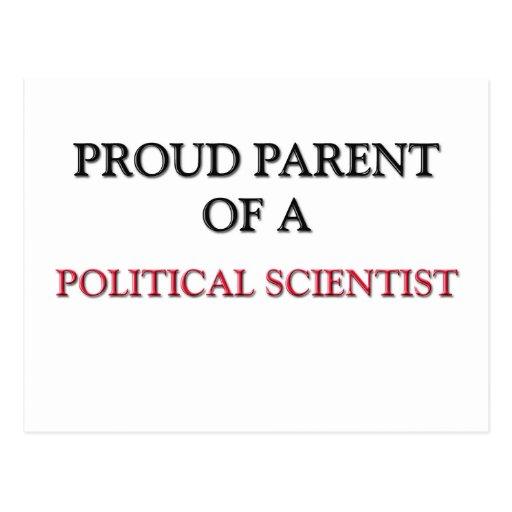 Padre orgulloso de un POLITÓLOGO Tarjeta Postal