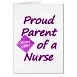 Padre orgulloso de una enfermera felicitaciones