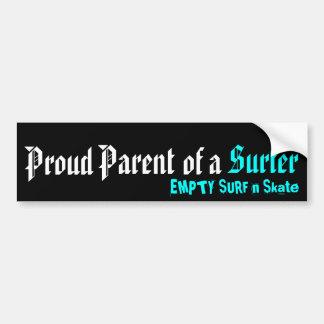 Padre orgulloso de una persona que practica surf pegatina para auto