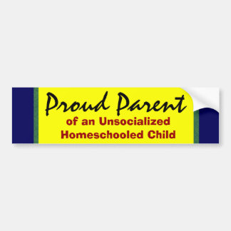 Padre orgulloso de Unsocialized Homeschooler Pegatina Para Auto