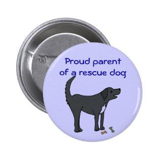 Padre orgulloso del ANUNCIO de un botón del perro  Pin Redondo De 2 Pulgadas