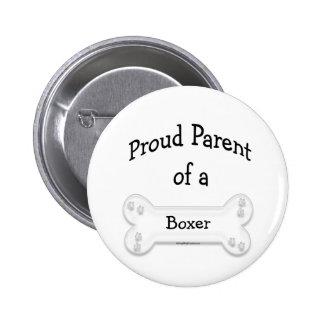 Padre orgulloso del boxeador - botón pin redondo de 2 pulgadas