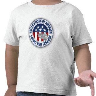 Padre orgulloso del guardacostas camisetas