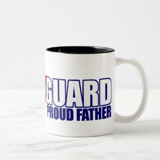 Padre orgulloso del guardacostas tazas de café