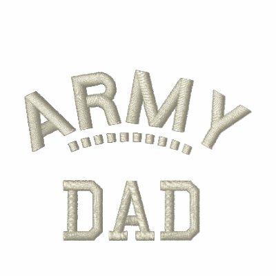 Padre patriótico del orgullo militar de la familia polo bordado