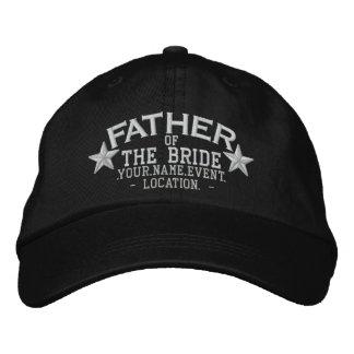 Padre personalizado de las estrellas del bordado gorras de beisbol bordadas