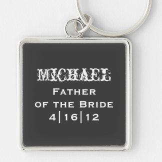 Padre personalizado del llavero de la novia