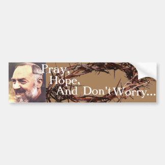 Padre Pio Bumpersticker Bumper Sticker