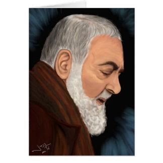 Padre Pio Tarjeta De Felicitación